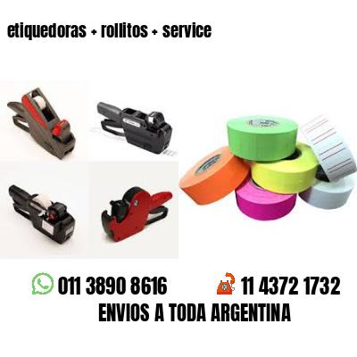 etiquedoras + rollitos + service